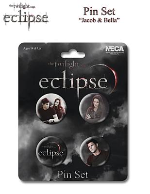 Eclipse / Zatmění - Odznak 4ks, Jacob and Bella (Twilight Saga / Stmívání) 22069