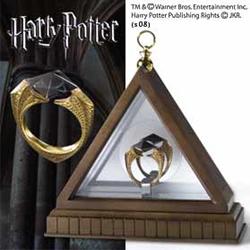 Harry Potter - Viteál Voldemortův prsten (Lord Voldemort's Horcrux Ring) pozlacený 1/1 (NN8177)