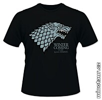 Game of Thrones - Tričko Stark: Winter is Coming black