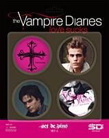 Vampire Diaries (Upíří deníky) - placky 4ks Set A