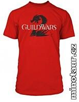 Guild Wars 2 - Tričko Logo Black on Red