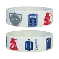 Doctor Who - Gumový náramek Icons