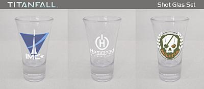 Titanfall - Sada 3 skleniček