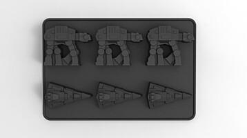 Star Wars - Silikonová formička - AT-AT a Destroyer