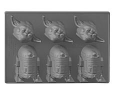 Star Wars - Silikonová formička - Yoda a R2-D2