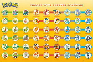 Pokémon - plakát Partner Pokémon 61x91cm