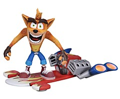 Crash Bandicoot - Hoverboard Crash Bandicoot Deluxe Action Figure 14 cm (41051)