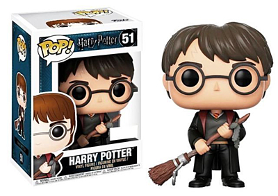 Harry Potter - Harry Potter with Firebolt and Feather Special Edition POP Vinyl Figure