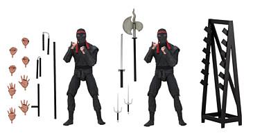 Teenage Mutant Ninja Turtles (TMNT) - 1990 Movie - Foot Soldier 2-pack with Weapon Rack Action Figure