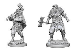 Figurka D&D - Human Male Barbarian - Unpainted (Dungeons & Dragons: Nolzur's Marvelous Miniatures)